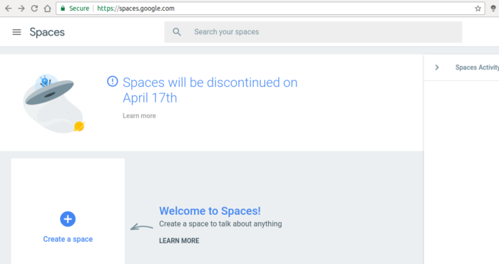 Google Spaces Shutting Down