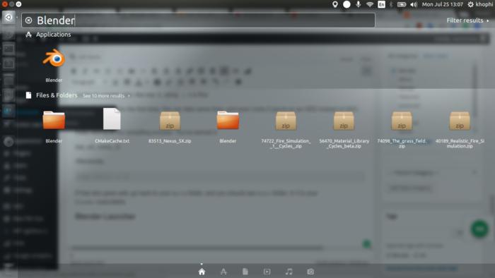 Access Blender in Launcher