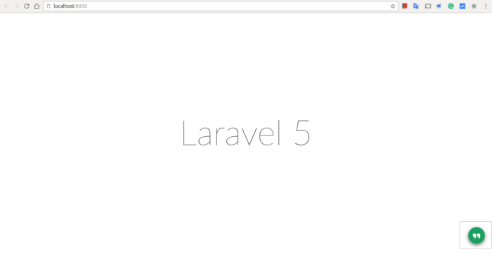 Laravel after install success page laravel survey app