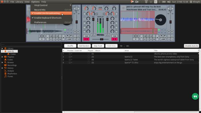 Broadcasting Mixxx to Icecast2