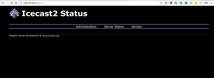 Icecast2 Server